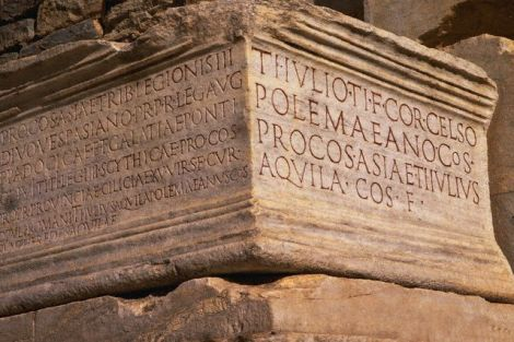 Inscriptions on Roman Ruins at Ephesus