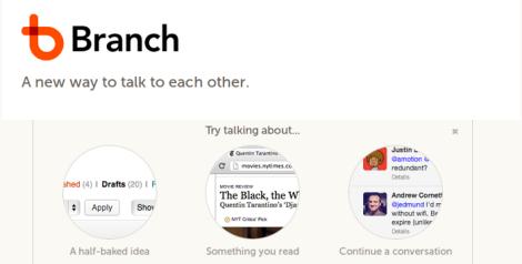 Branch Conversaciones y grupos en Twitter