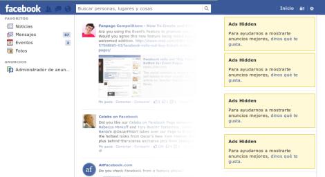 Como quitar publicidad de Facebook