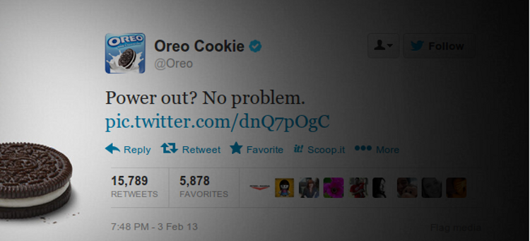El Caso Oreo Super Bowl Tweet