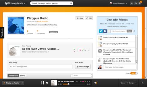 Grooveshark - Broadcast Play