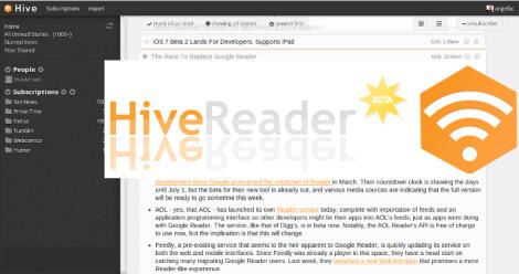 Hive  Un Contendiente más por el Trono de Google Reader