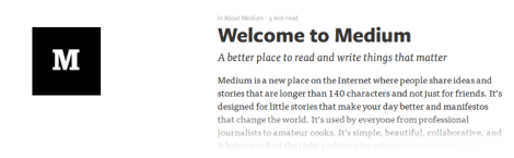 Medium El blog reducido a su mínima expresión