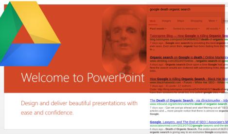 Curación de Enlaces Doug Engelbart Problema de PowerPoint Degeneración Busquedas Google