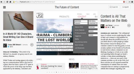 Flipboard comienza la invasión de la web de escritorio