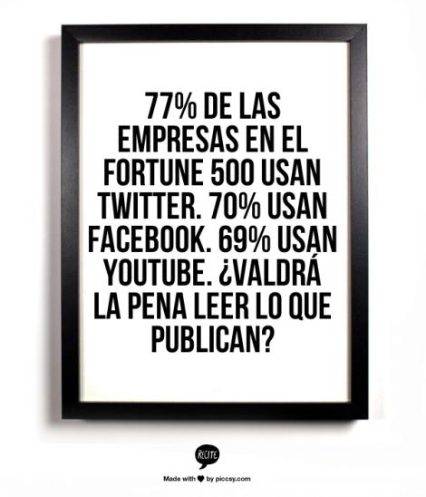 Fortune 500 medios sociales