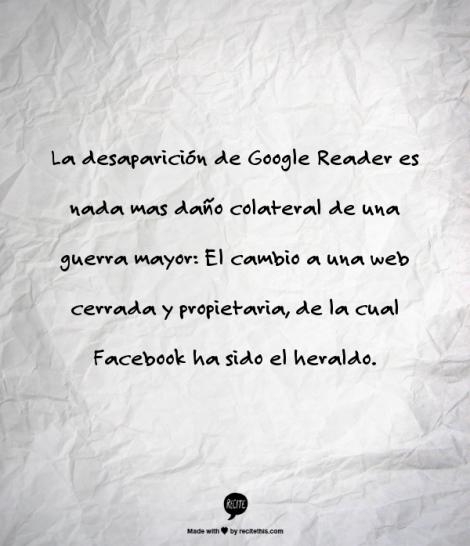 Un crimen resuelto Facebook y la Verdadera Causa de la Desaparición Google Reader