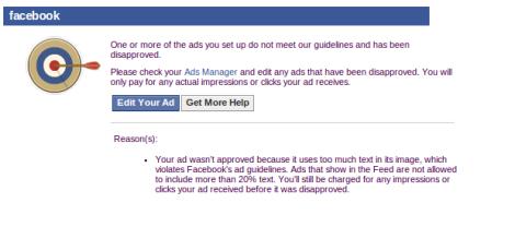 Como Verificar el Texto de tus Imagenes Publicitarias en Facebook mail