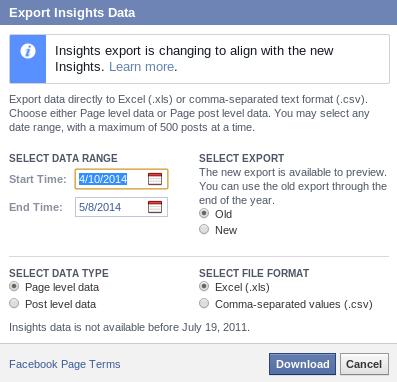 Exportacion de Datos facebook