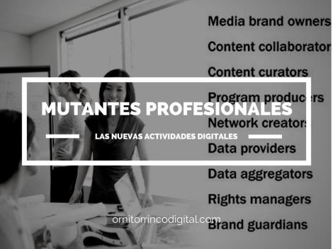 Mutantes Profesionales Definiendo las Actividades Digitales