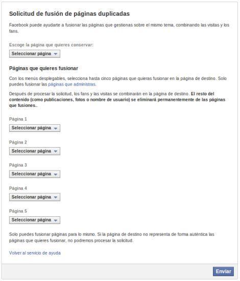 Fusion Paginas facebook Formulario 2