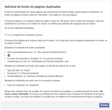 Fusion Paginas Facebook Formulario