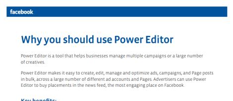 Guia oficial del Power Editor