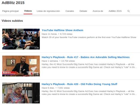 Videos Youtube medio tiempo super bowl