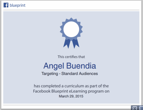 Certificado facebook blueprint