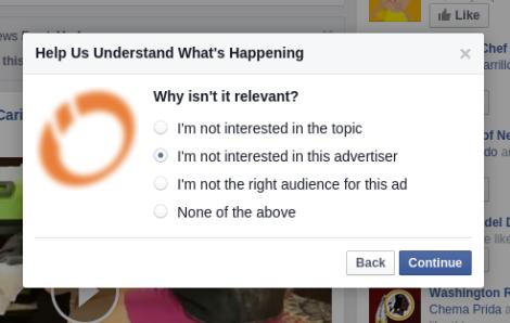 Bloquear publicidad politica Facebook razones 2