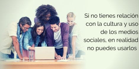 Cultura y uso de los medios sociales