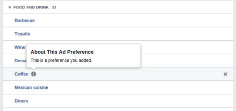 Perfil de Facebook intereses adicion personal